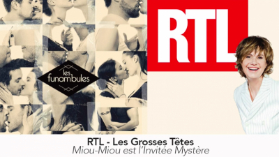 <b>RTL &#8211; Les Grosses Têtes</b> avec Miou-Miou