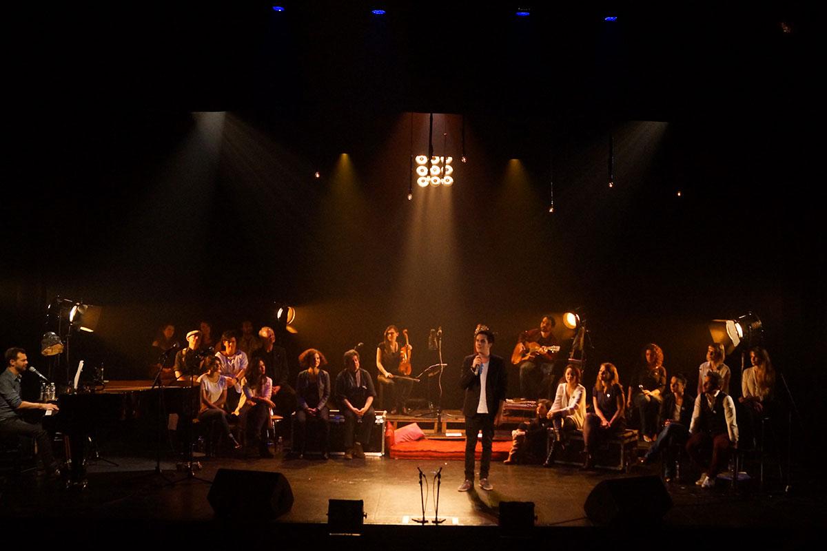 Concert au Vingtième Théâtre (2014) | 201410 Funambules XXemeTheatre DamienRichard 80
