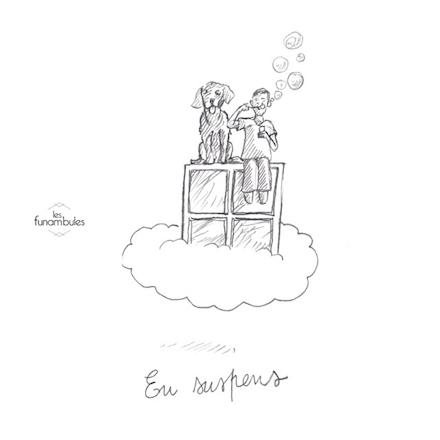 Pochette de l'album des Funambules, En Suspens